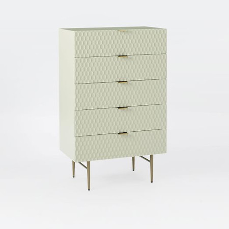 Audrey 5-Drawer Chest - Parchment