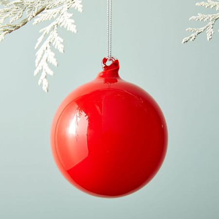 Glass Ball Ornament - Red