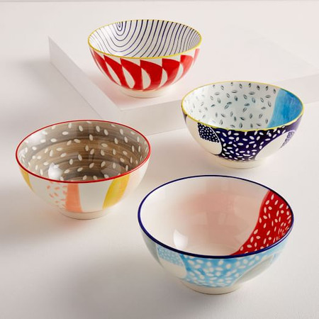 Hand-Painted Pattern Pop Bowls - Small