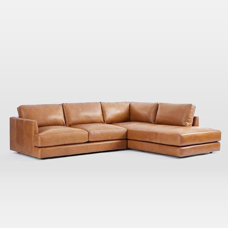 Haven Leather Corner Chaise