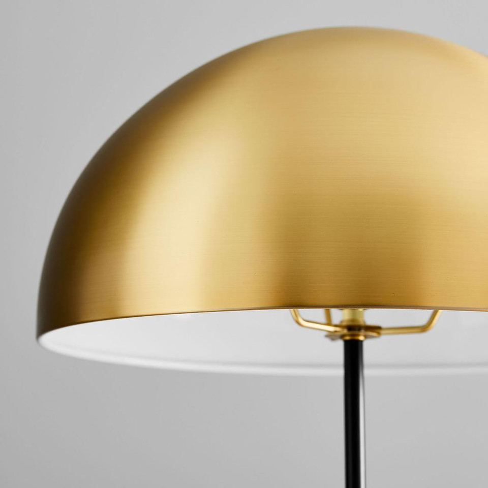 Hudson Floor Lamp - Medium (Antique Brass/Dark Bronze)
