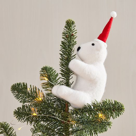 Hugging Polar Bear Tree Topper