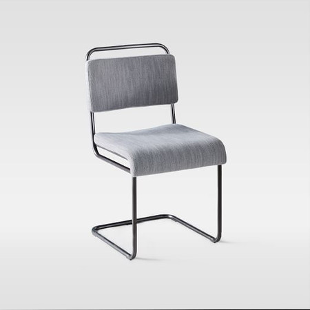 Industrial Cantilever Upholstered Dining Chair (Set of 2)
