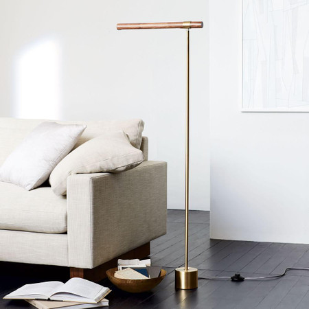 Linear Wood LED Floor Lamp