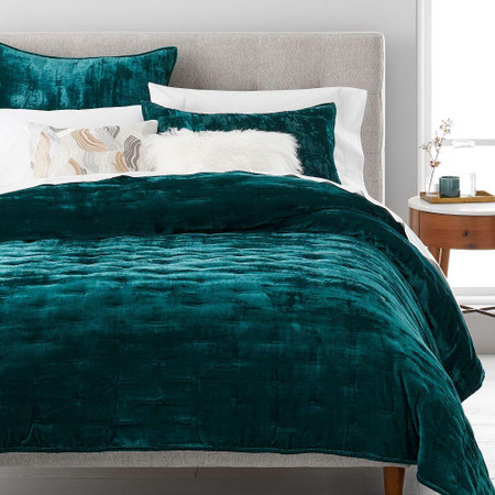 Lush Tack Stitch Bedspread & Pillowcases - Botanical Garden