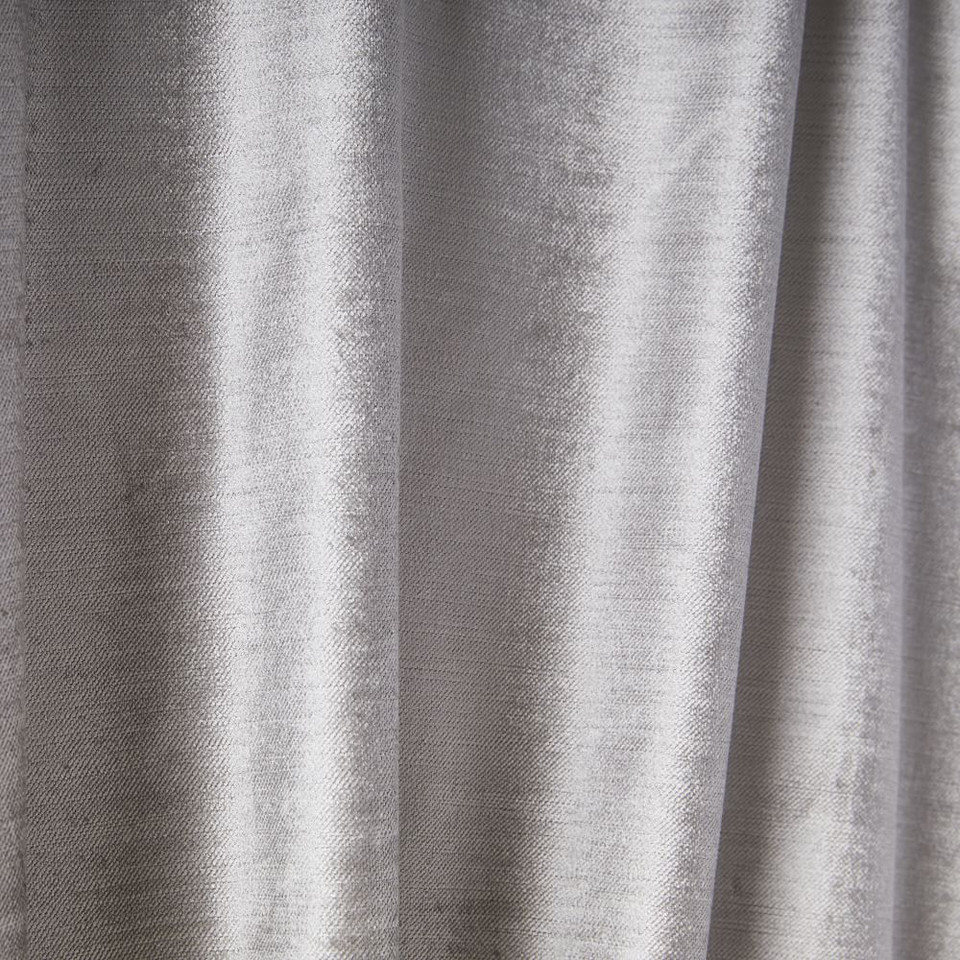 Cotton Lustre Velvet Blackout Curtain - Platinum