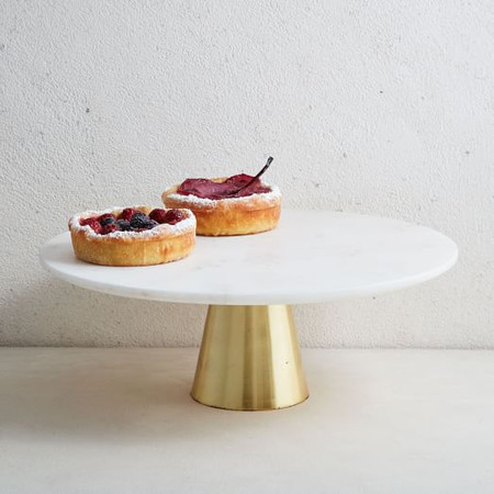 Marble + Brass Cake Stand