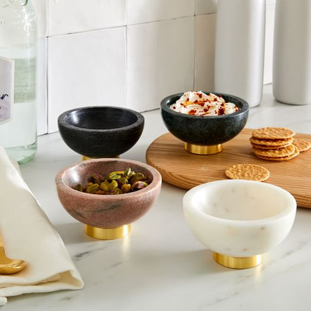 Marble & Brass Dip Bowls