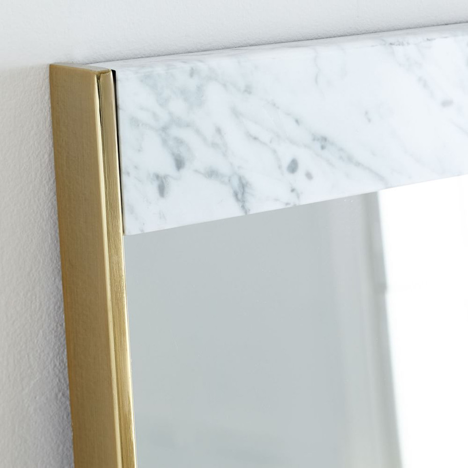 Marble & Brass Wall Mirror