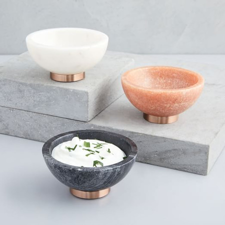 Marble & Copper Dip Bowl
