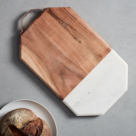 Marble + Wood Chopping Board - Large