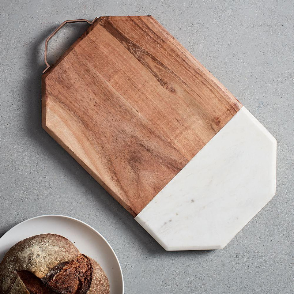 Marble & Wood Chopping Board - Large