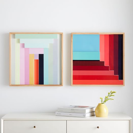 Margo Selby Colourblock Lacquer Wall Art