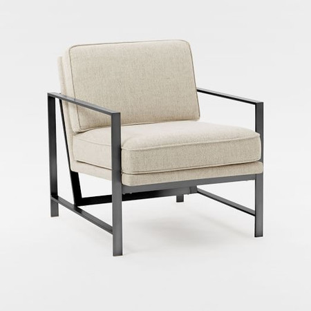Metal Frame Upholstered Armchair