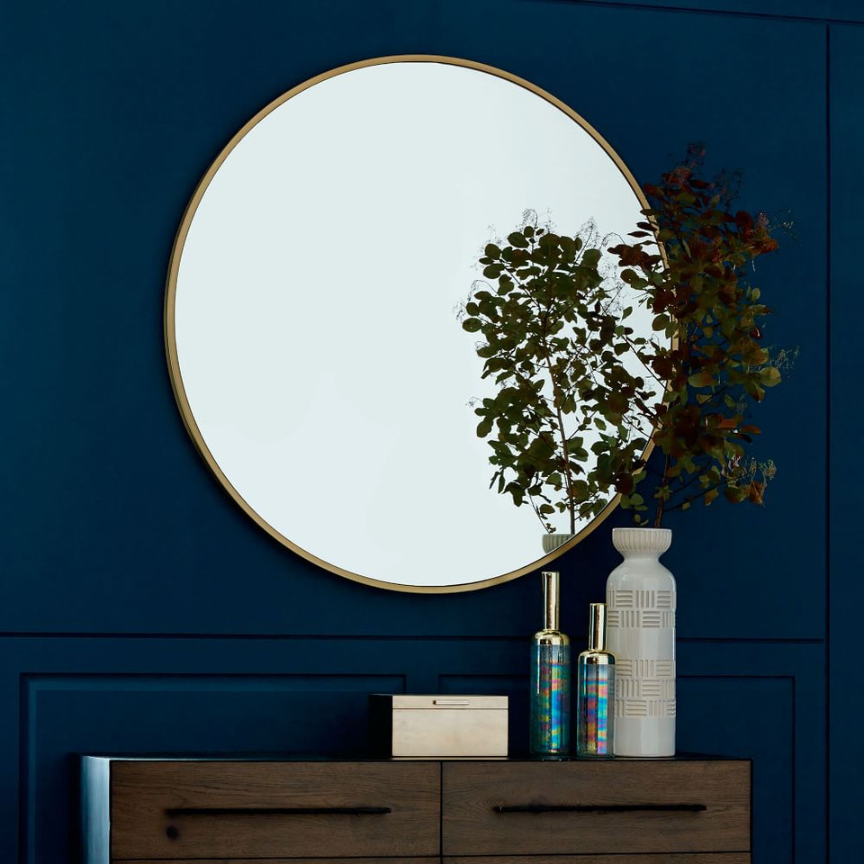 Metal Framed Oversized 122 cm Round Mirror