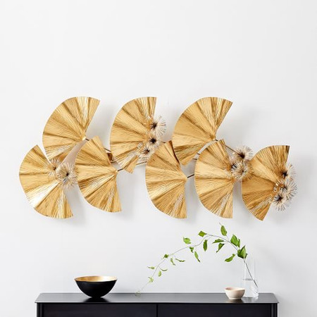 Metallic Ginkgo Wall Art