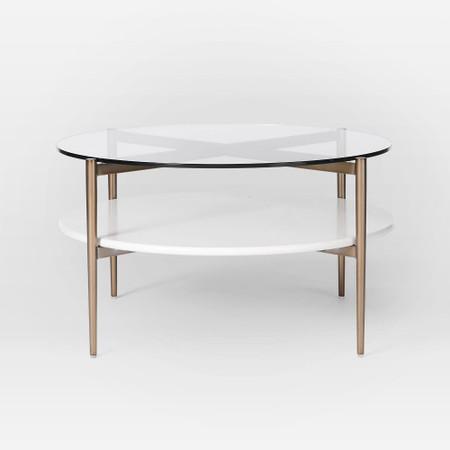 Mid Century Art Display Round Coffee, Small Round Coffee Tables Uk