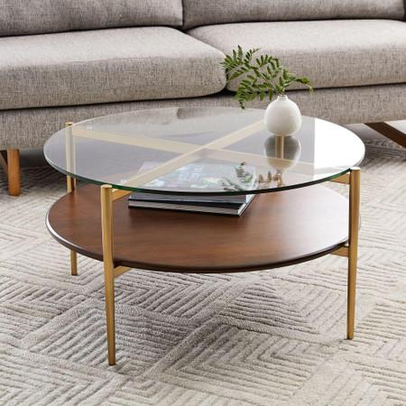 Mid Century Art Display Round Coffee Table West Elm United Kingdom