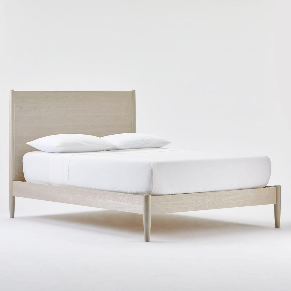 Mid-Century Bed - Pebble
