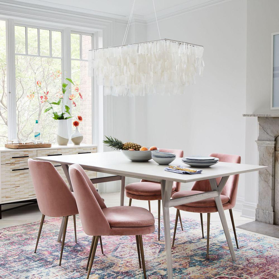 West Elm Dining Table Pebble
