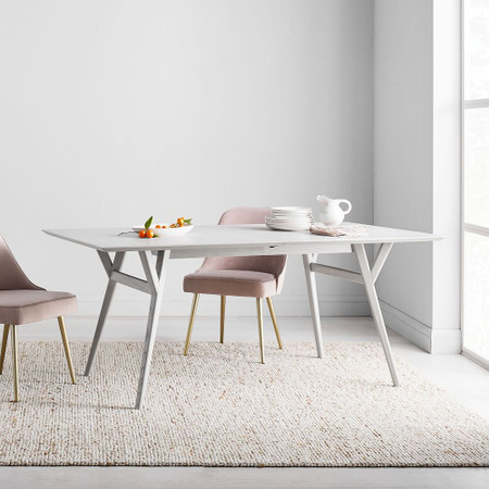 Mid Century Expandable Dining Table Pebble West Elm United Kingdom