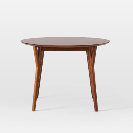 Mid Century Round Expandable Dining, Wood Table Round