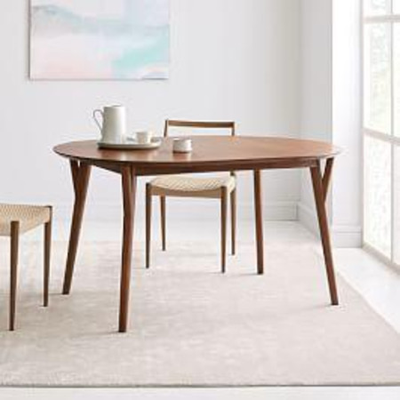 Mid-Century Round Expandable Dining Table
