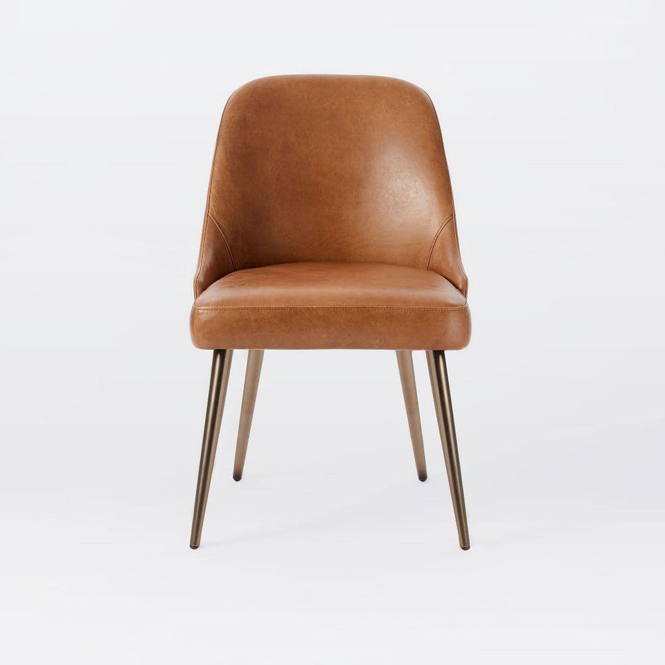 Mid-Century Leather Dining Chair