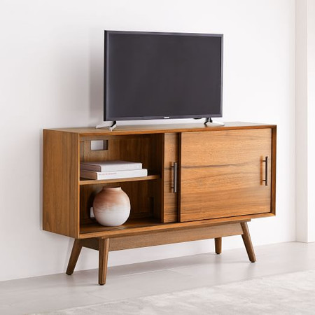 Mid-Century Narrow Media Console (122 cm)