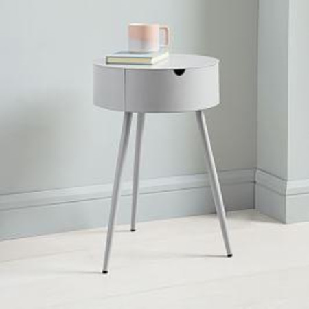 Mitzi Bedside Table - Thundercloud
