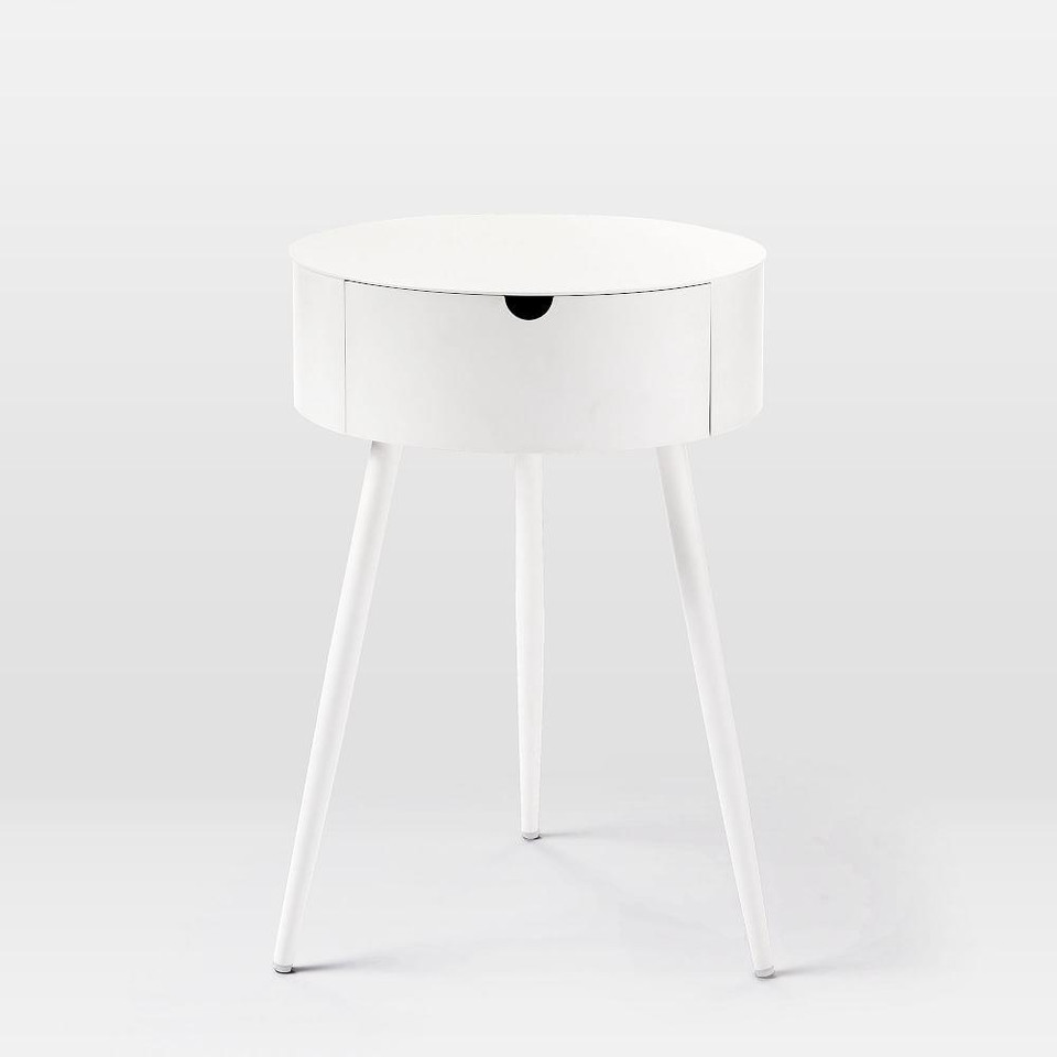 Mitzi Bedside Table - White