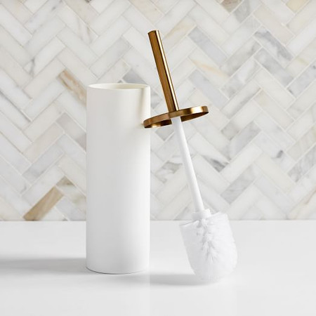 Modern Resin Stone Toilet Brush Holder