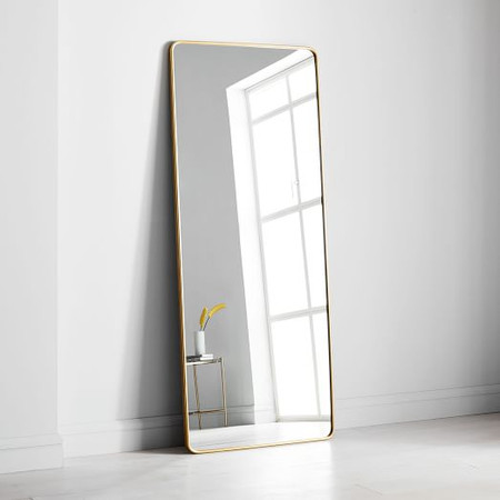 Modern Streamline Floor Mirror