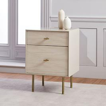 Modernist Wood & Lacquer Bedside Table, Winter Wood
