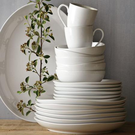 Organic Shaped Porcelain Dinnerware Set West Elm United Kingdom