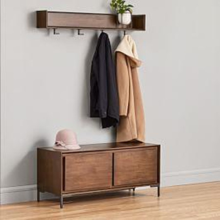 Nolan Entryway Bench & Wall Shelf Set