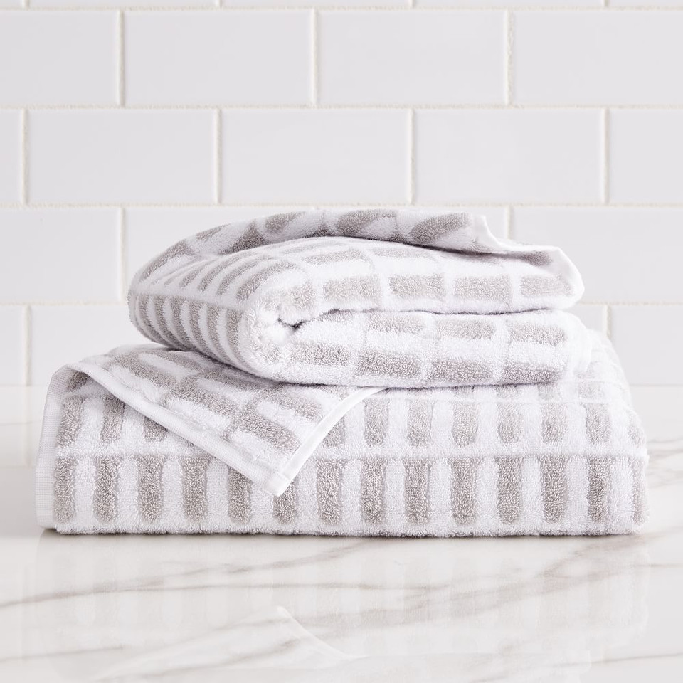 Organic Archways Jacquard Towels