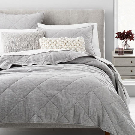 Organic Flannel Herringbone Bedspread & Pillowcases