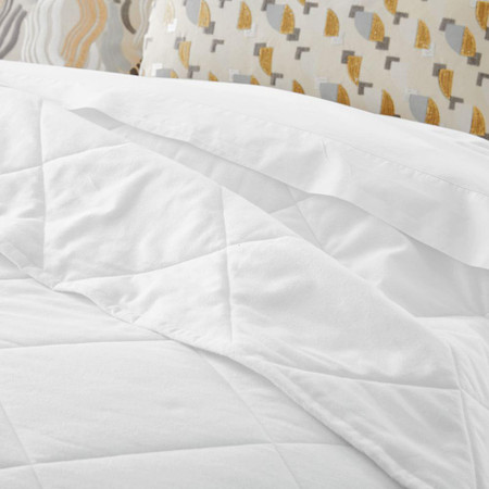 Organic Flannel Solid Bedspread + Pillowcases - Stone White