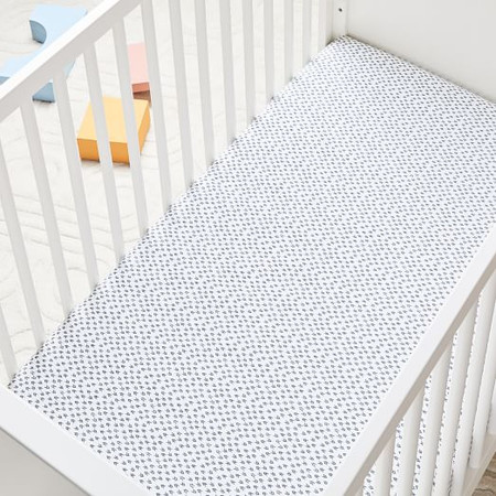 Organic Harmony Cot Fitted Sheet - Nightshade
