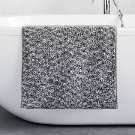 Organic Heathered Bath Mat - Grey Dusk