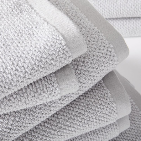 Organic Heathered Towels - Grey Sky