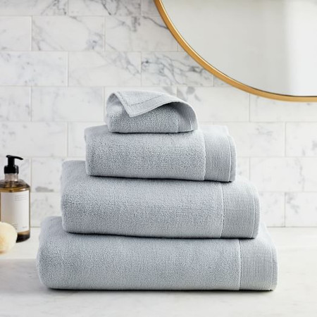 Organic Luxe Fibrosoft™ Towels - Sea Salt Blue