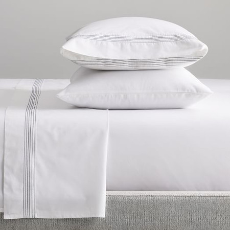 Organic Percale Pleated Sheets