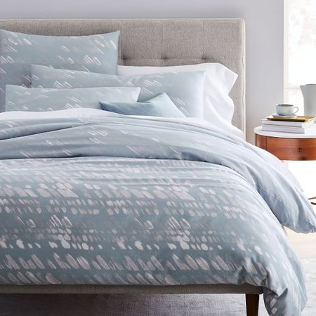 Organic Sateen Slanted Dots Duvet Cover & Pillowcases