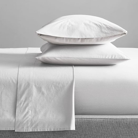 Organic Washed Cotton Percale Sheets