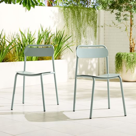 Garden Metal Stacking Chair (Set of 2)