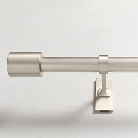 Oversized Adjustable Metal Rod - Brushed Nickel