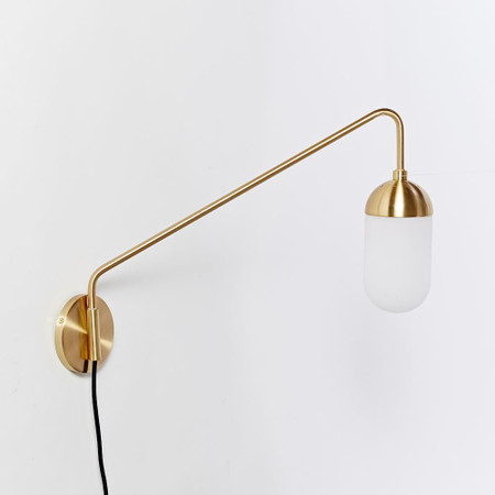 Pelle Long Gooseneck Sconce