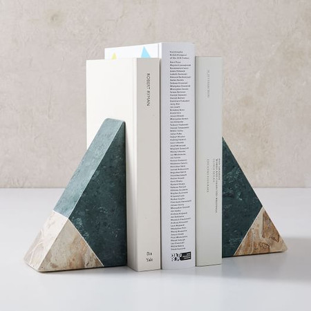 Pieced Marble Bookend